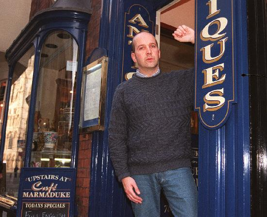 Anthony Gilberthorpe, pictured in Stonegate in 1998