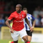 York Press: ANTHONY STRAKER IN ACTION FOR YORK CITY York City v Sheffield Wendesday  PSF clash held at Botham Cresent on the 12/07/2014 Pic by Gordon Clayton Football League Images are covered by DataCo Licence  agreements For editorial use only No Free Use permitted