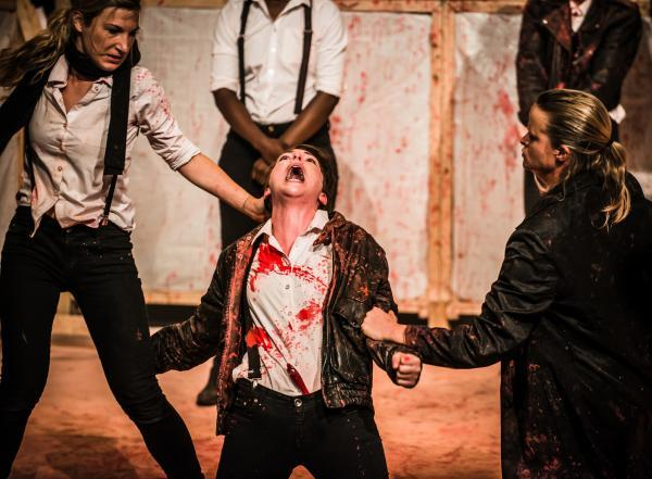 The all-female Smooth Faced Gentlemen in Titus Andronicus at York Theatre Royal last October