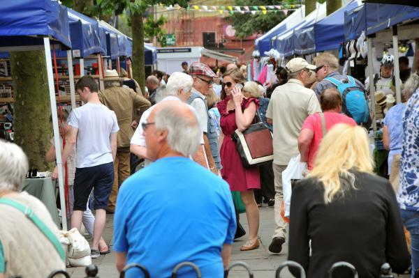 Market stalls on Parliament Street are proving popular while work is under way in the market area