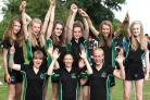 Joseph Rowntree School's Under-12s rounders tournament winners celebrate