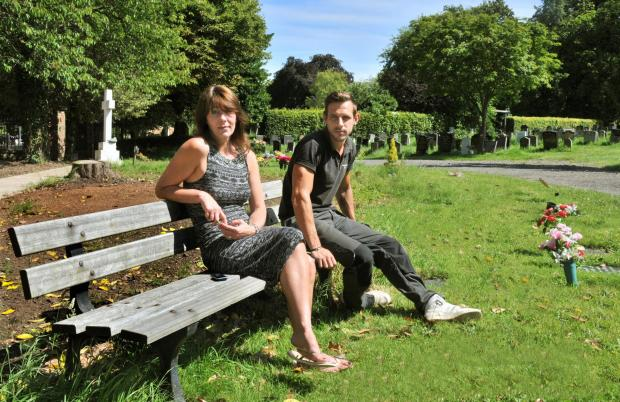 Wendy Harrison and head gardener Rob Harris at York Cemetery
