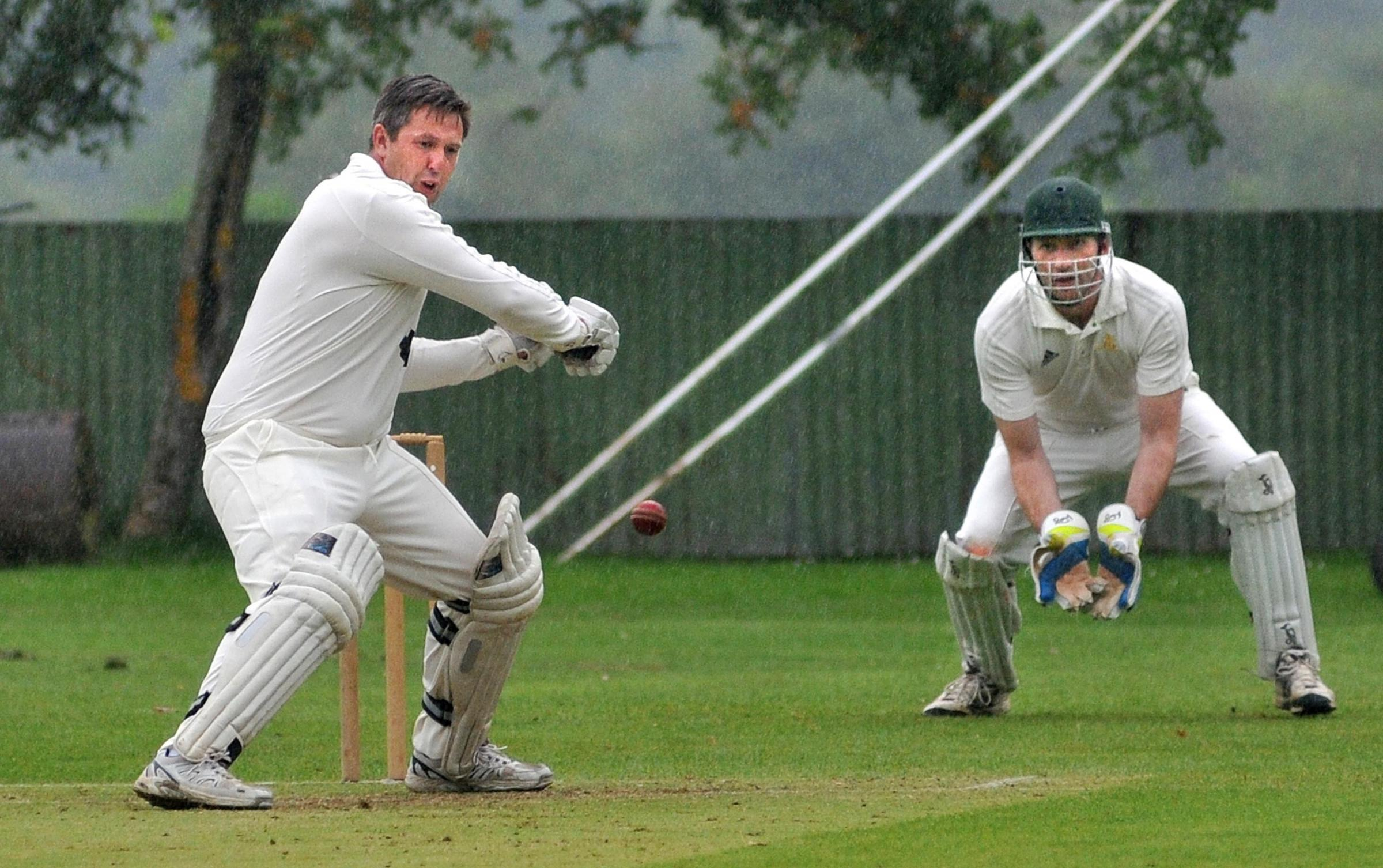Duncombe Park's Brian Leckenby on his way to 90 against Pocklington
