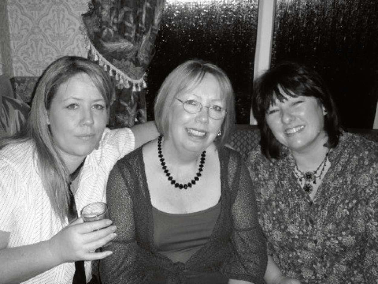 Celia Crampton, centre, with her daughter Lesley, left, and relative Diane Jones