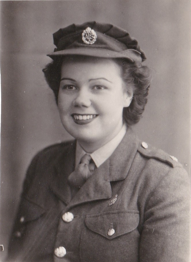 WAR SERVICE: Meriel Bowers in her ATS uniform.