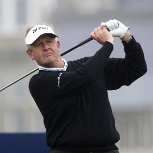 Colin Montgomerie is seven shots behind the leader after the first day of the Senior Open