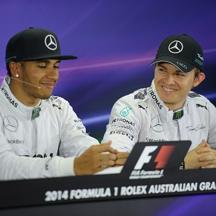 Lewis Hamilton, left, and Nico Rosberg, right, have not always got on this season