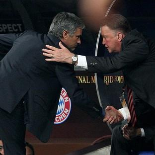 Louis van Gaal, right, prefers to deal privately with Jose Mourinho, right