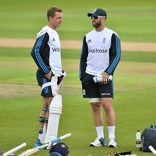 Jos Buttler, left, has named Matt Prior, right, and Adam Gilchrist as two of his biggest influences