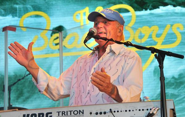 Rock legends The Beach Boys perform at York Racecourse