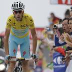 York Press: Italy's Vincenzo Nibali crosses the finish line to win the eighteenth stage of the Tour de France cycling race over 145.5 kilometers (90.4 miles) with start in Pau and finish in Hautacam, Pyrenees region, France, Thursday, July 24, 2014. (AP Photo/Lau
