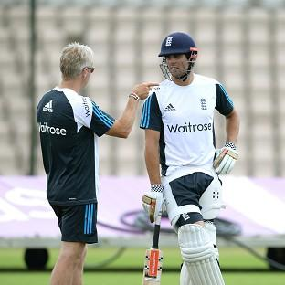 Alastair Cook, right, is under pressure ahead of the third Test