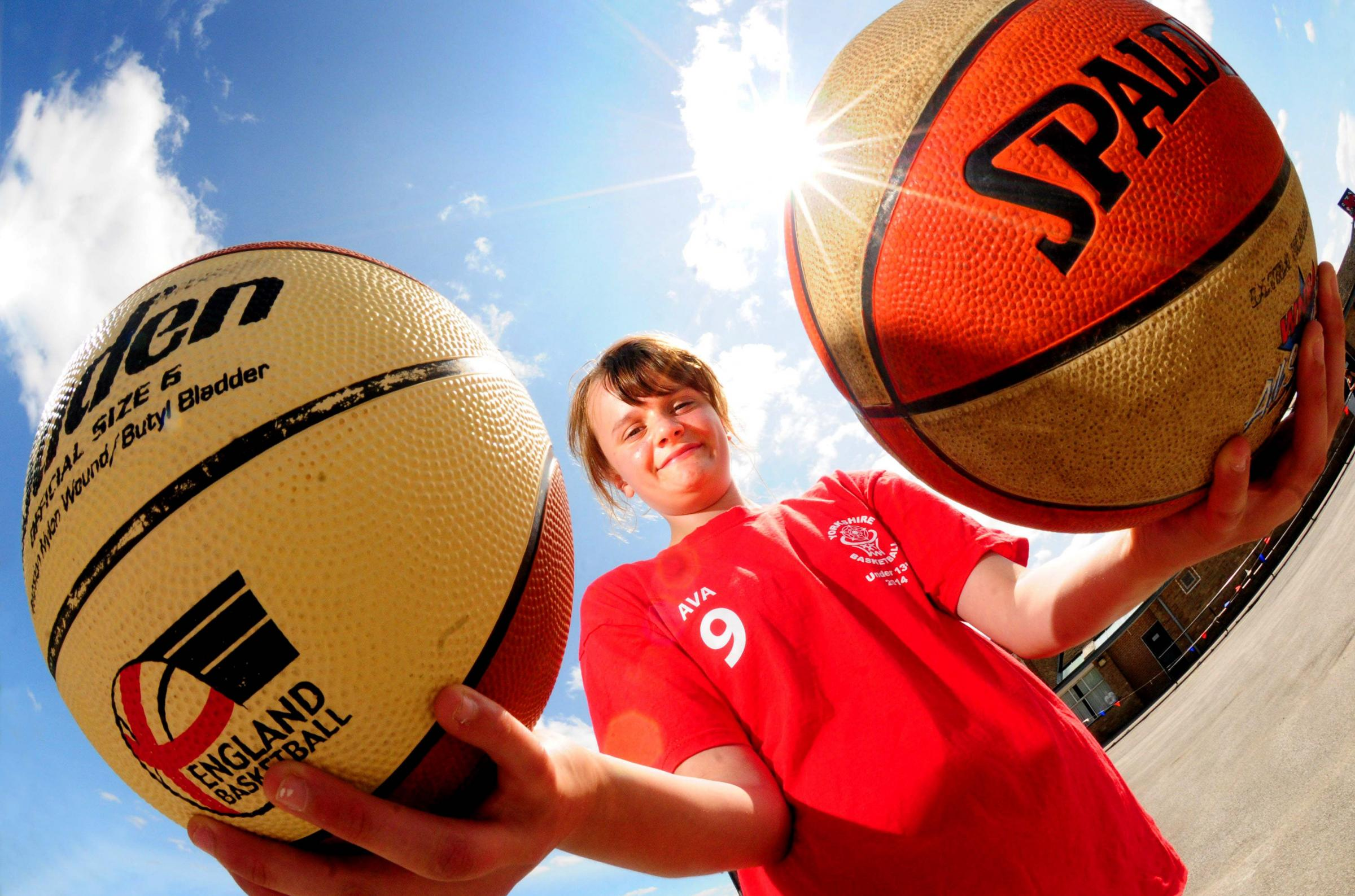 SPORTING HOPE: Fulford School pupil Ava Patchesa at her basketball fundraiser.