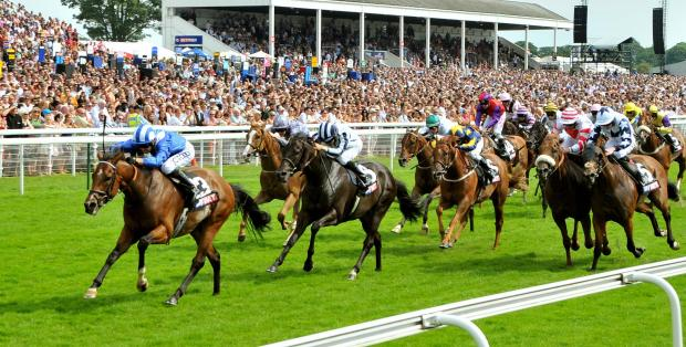 Muthmir streaks clear to win the Sky Bet Dash at York Racecourse
