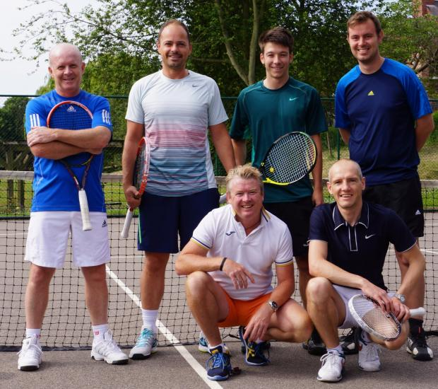 Rowntree Park are champions in waiting after building a huge lead at the top of Tyke Petroleum Men's Tennis League division one. Pictured are, from left, Steve Spaven, Pete Jones, Paul Adams, front, Sam Davies, Ian Sadler, front, and captain James Denma