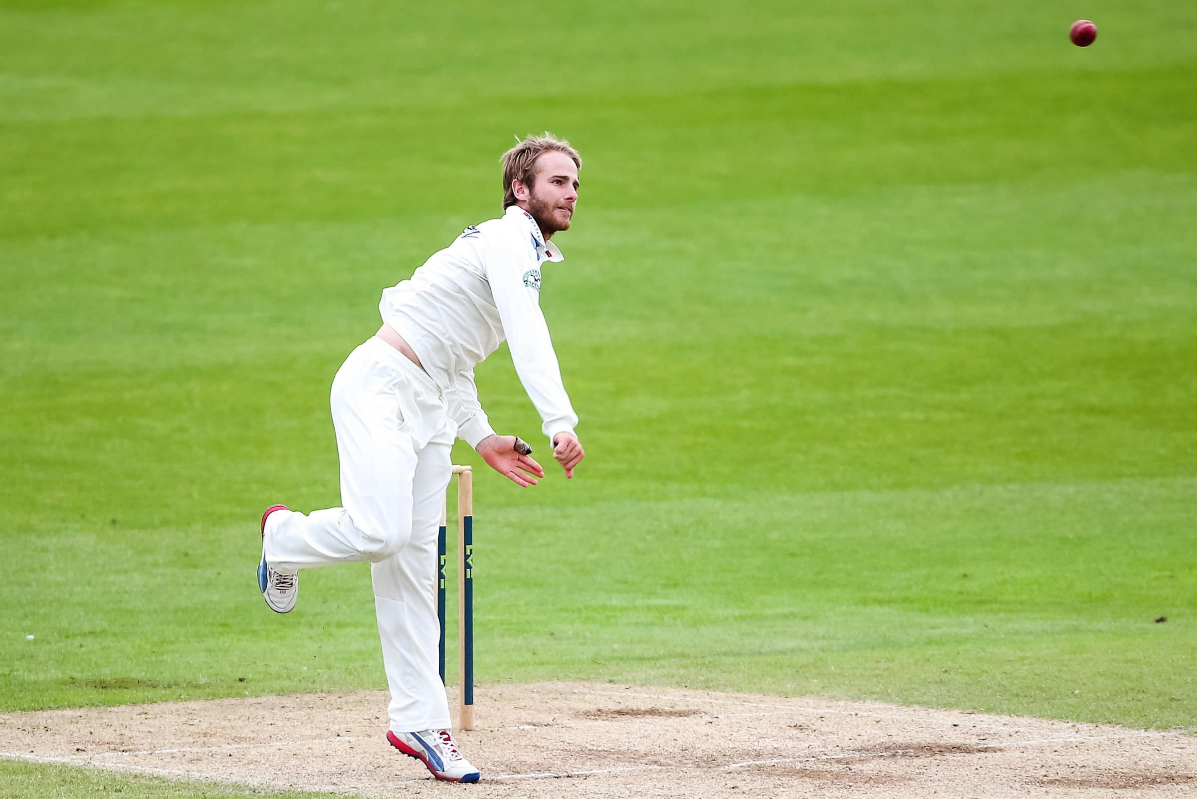 Kane Williamson in bowling action for Yorkshire. Picture: swpix.com
