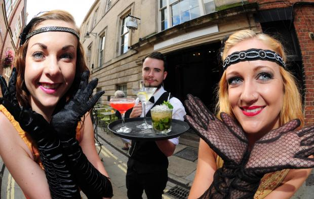 Hannah Crawley, Dom Lehany and Karen Hawkins prepare to celebrate the first birthday of Banyan Bar in York