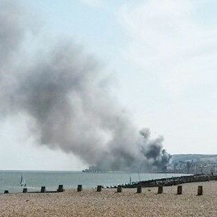 Fire rips through 144-year-old pier