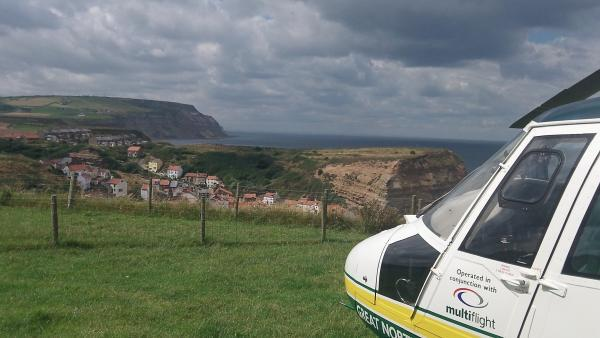 The scene today. Picture supplied by Great North Air Ambulance