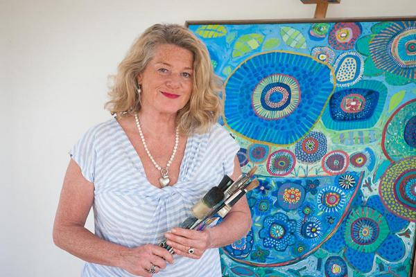 : Lesley Seeger who will create a painting on the day