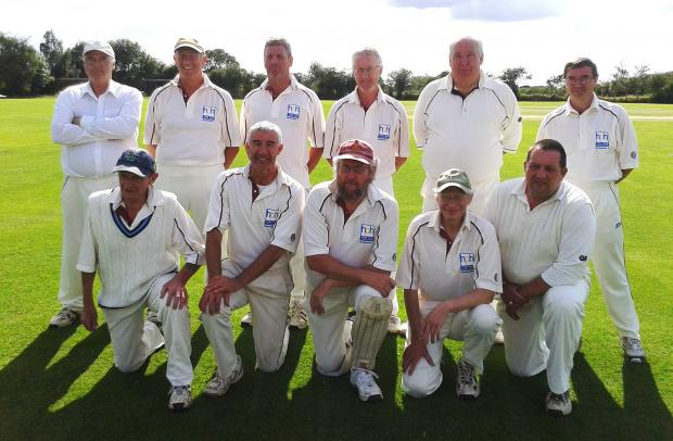 York Vale Veterans are pictured at their Grey Fox Trophy clash with Fishlake