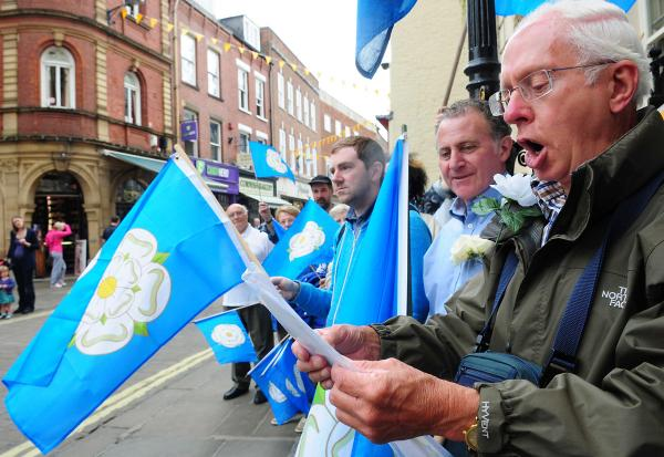Unfurling the flag for Yorkshire Day