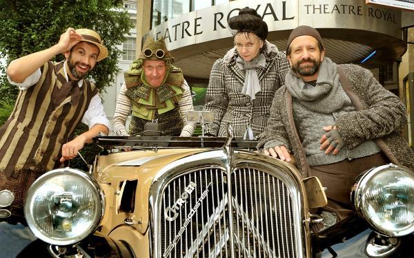 . Cast members of Wind In The Willows Jonathan Race, Martin Barrass  Jacky Naylor and Robin Simpson.