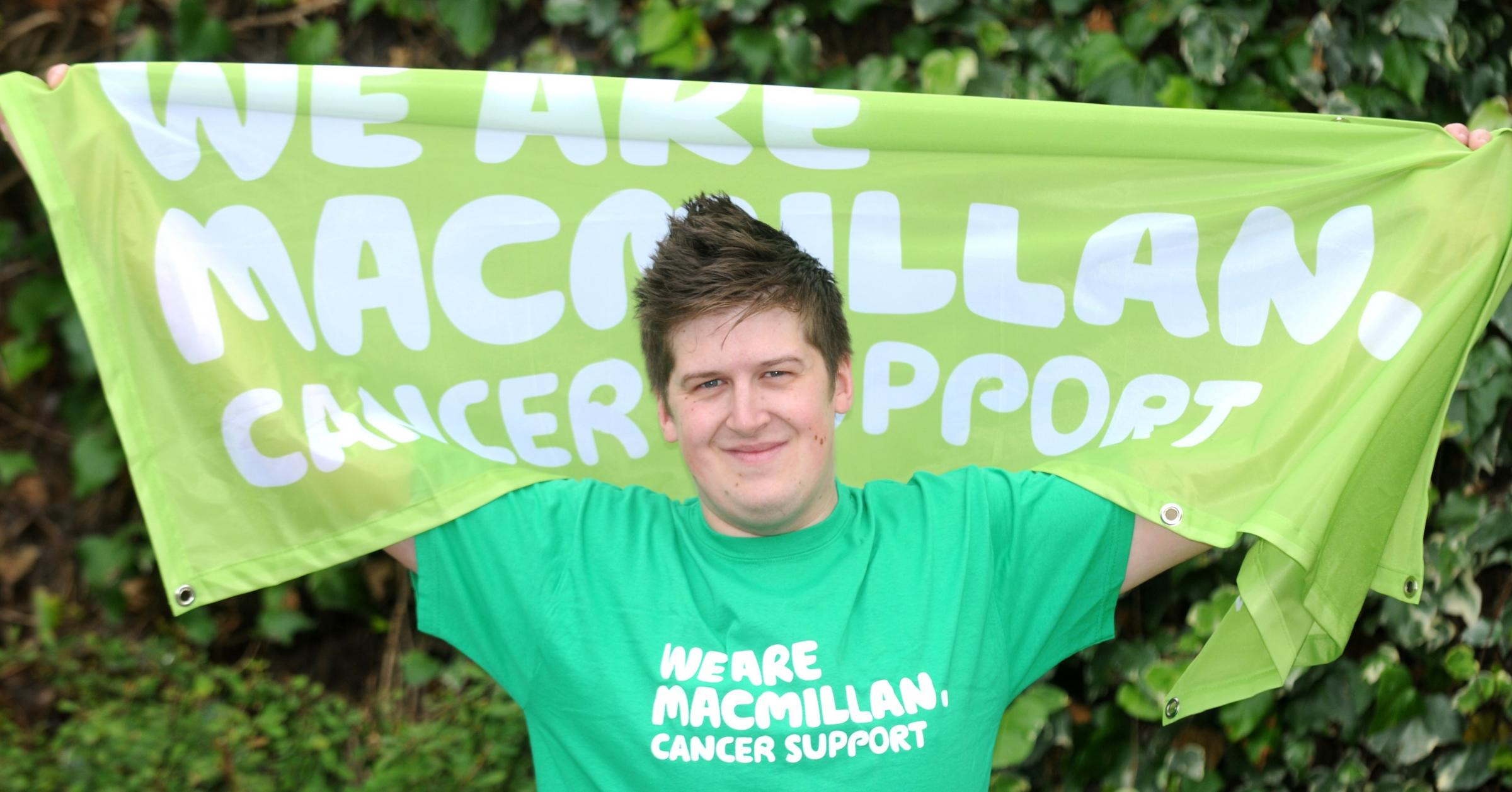 Matthew Ascough, who has received treatment for cancer and now aims to raise £10,000 for Macmillan