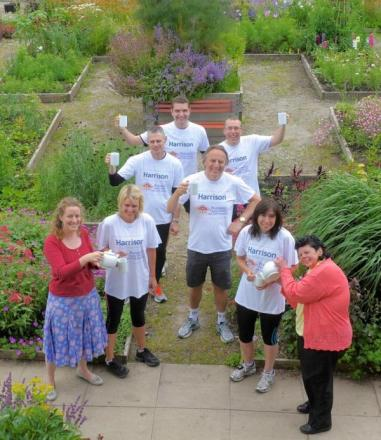 Staff from S Harrison Developments Ltd who will be running a relay in the Yorkshire Marathon to raise money for local charity Brunswick Organic Nursery and Craft Workshops
