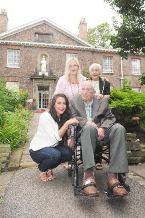 Three generations of the Clark family who own Middleton's hotel, Andrew Clark, his grand daughter Jolanda Hind, her mother Henny Clark and her mother Kathe