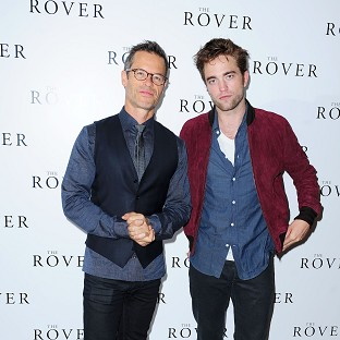 Guy Pearce and Robert Pattinson attending a photocall for new film The Rover at the BFI in London.