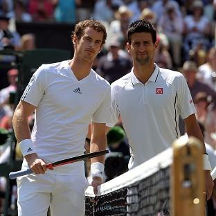 Andy Murray, left, and Novak Djokovic, right, could meet in the last eight