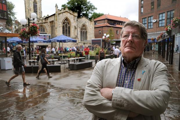 Cllr John Galvin, in the Coppergate Centre, is angry with the delay in the evening economy boost plans