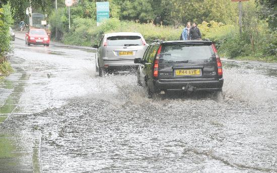 Flooding in Fulford Road in 2012