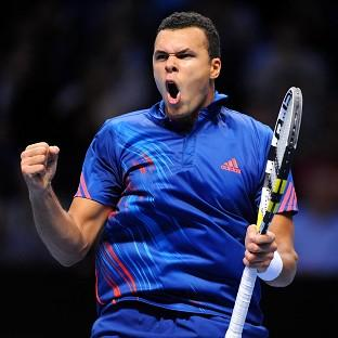 Jo-Wilfried Tsonga, pictured, gained revenge for his Wimbledon defeat by Novak Djokovic
