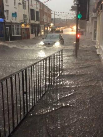 The scene in Tadcaster on Friday night, captured by local resident Jacob Smyth