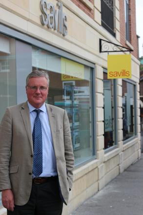 Paul Ainscough, head of Office at Savills York, outside the new office in Merchant's Place