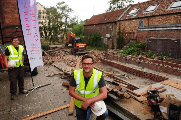 Mitch Pollington and Paul Clarke at the excavation of Richard III's favourite York friary