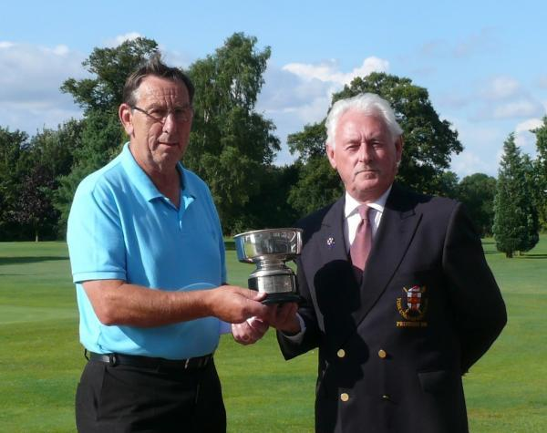 Dave Brandreth, left, is presented with the York Union Pick Trophy by Union president David Smith