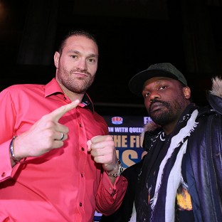 Tyson Fury, left, and Dereck Chisora, right, will try again in London on November 22