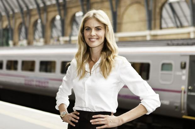 Donna Train, formerly known as Donna Air, at London Kings Cross at the start of I Love Trains week.