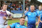Josh Tonks scores York City Knights' third try in their 34-30 victory over Gateshead