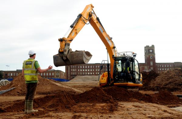 Work at the David Wilson site on the Terrys factory development