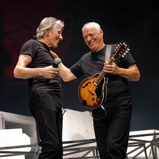 Pink Floyd stars Roger Waters (left) and David Gilmour when they teamed up for a rare appearance together in 2011