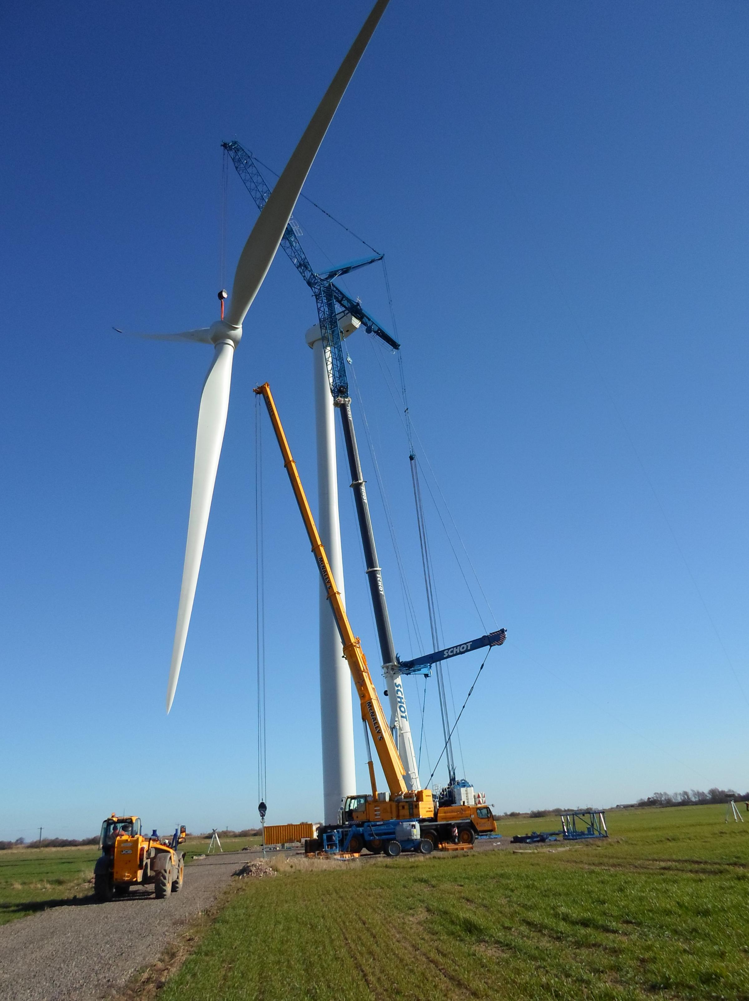 One of the turbines at the Goole Fields Wind Farm in East Yorkshire