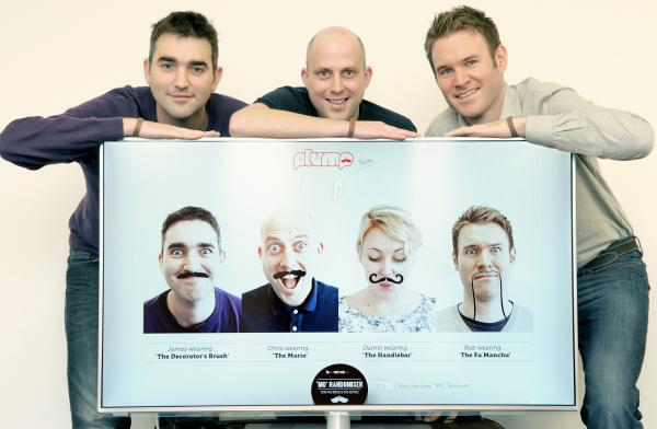 Showing facial hair for the Movem- ber charity effort (from left) James Howard, Chris Lawson and Rob Colley, at Plump in Swinegate Court.