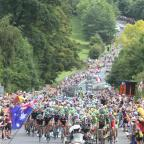 York Press: Tour De France cyclists at the bottom of Beamsley Hill