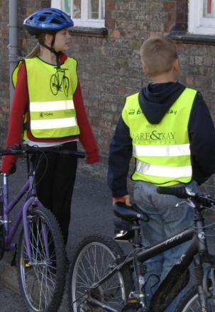 York pupils at a cycle safety session