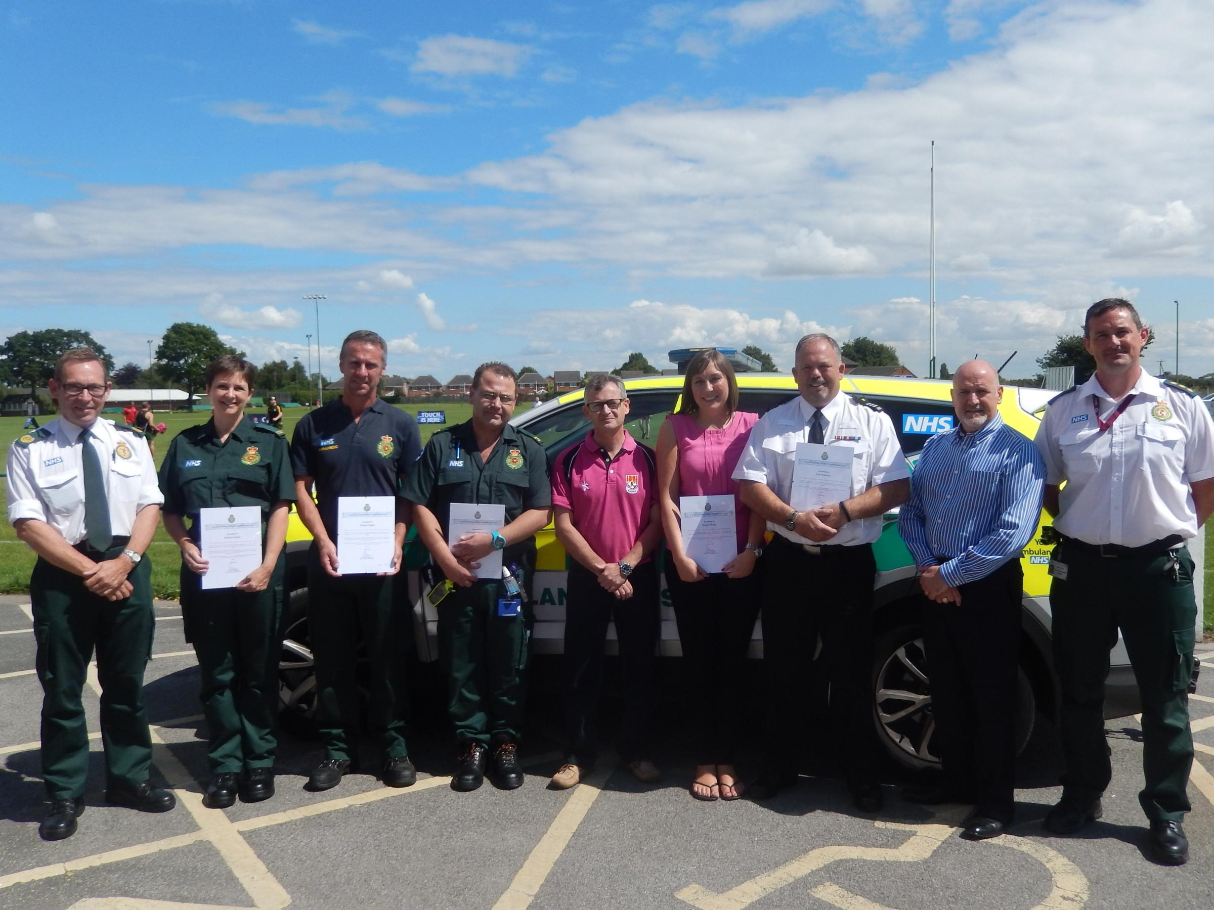 Doug Skelton meets the award-winning Yorkshire Ambulance Service crew and bystanders who saved his life.