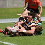 York Press: York City Knights' James Ford touches down in the first half against Hunslet HawksPicture: Gordon Clayton